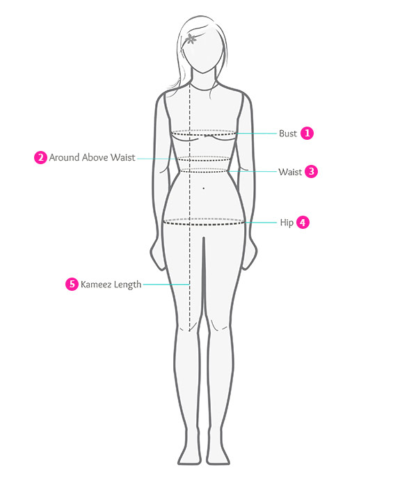 Kameez Measurement By Body Shape