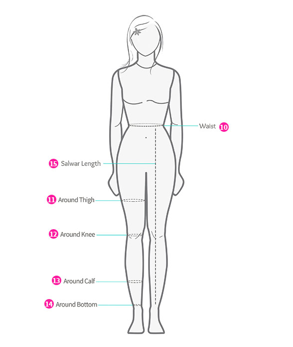 Bottom Wear Measurements ByStyle & Frame