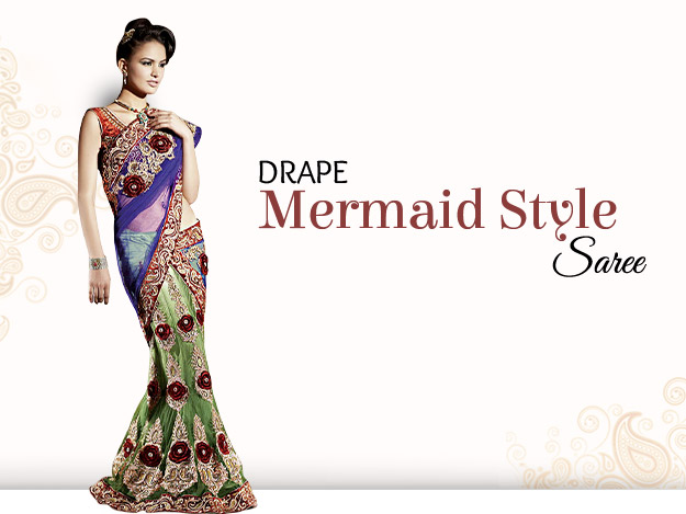 DIY Video to Learn Mermaid Style Saree Draping