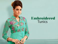 Embroidered Tunics With Indian Magnificence