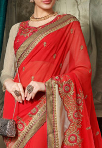 embroidery-red-saree