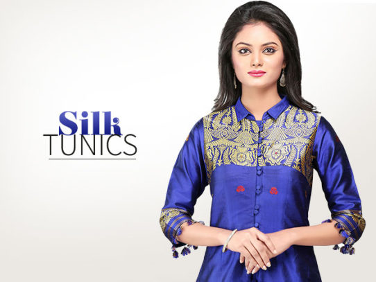 Look Regal in Silk Tunics And Dresses