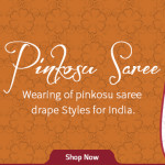 Interesting Pinkosu Saree Drape
