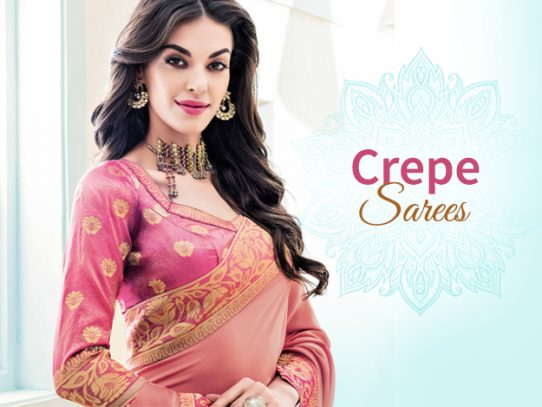 Crispy Crepe Sarees To Keep You Stylish