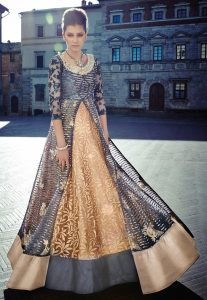 embroidered-abaya-style-double-layered-suit-in-grey