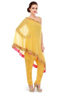 Yellow Tunic With Sequins