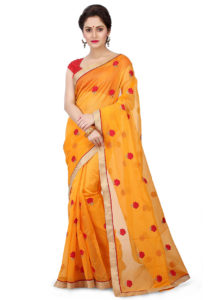 yellow-embroidered-saree