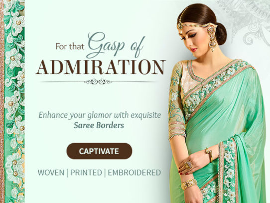 Saree Borders: Embroidered, Printed And Woven