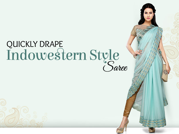 DIY Video to Drape Indowestern Style Saree
