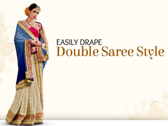 DIY Video to Learn Double Saree Style