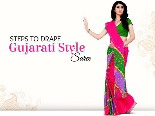 DIY Video to Drape Gujarati Style Saree