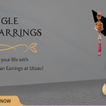 A Lady With The Dangle Earrings