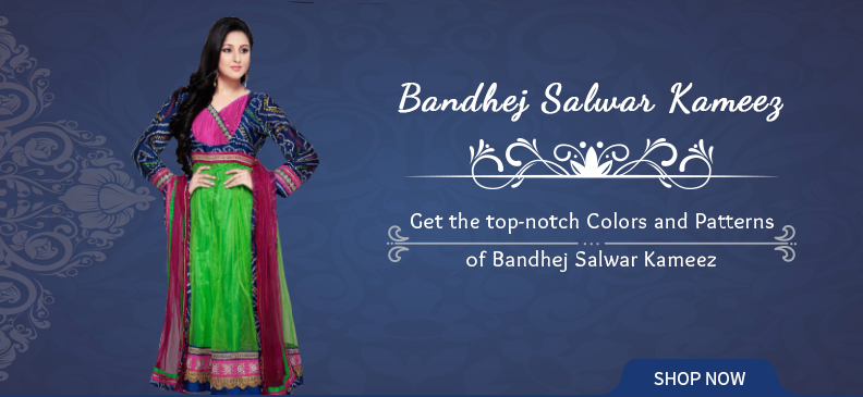 Bandhej Salwar Suits: To Pep Up Your Weekend Brunches