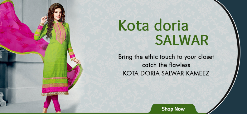 Newfound Love of Designers: Kota Doria Salwar Suits