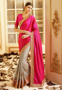 crushed-pink-art-silk-saree