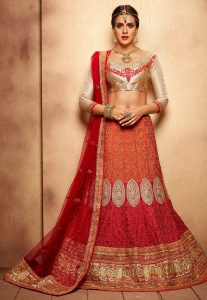 red-orange-embroidered-designer-lehenga-choli