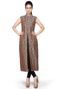 printed-art-chanderi-silk-long-kurta-in-peach