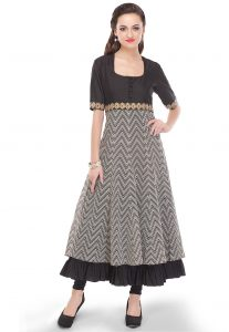 printed-cotton-silk-long-kurta-in-black-and-white