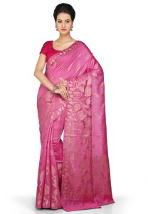 pure-muga-silk-saree-in-fuchsia
