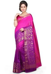 pure-muga-silk-saree-in-fuchsia-and-purple-ombre