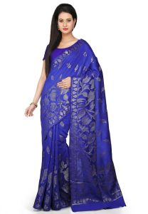 pure-muga-silk-saree-in-royal-blue