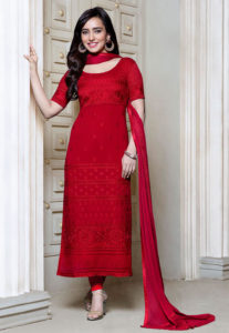 red-embroidered-georgette-suit