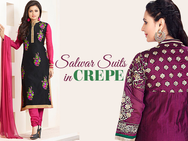 Some Very Classy Ways to Style Your Crepe Salwar Kameez
