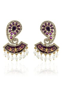 violet-studded-earrings