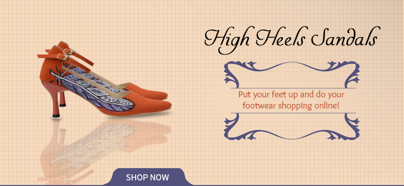 High Heel Sandals With Indian Touch