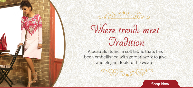 How About Blending Traditional Zardosi Work With Kurtas