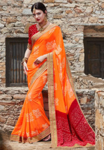 bandhej-georgette-saree