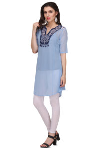 blue-short-kurta