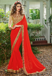 bordered-red-saree