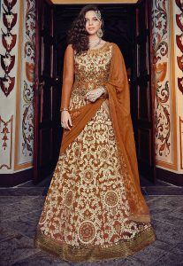 Thread Embroidered Lehenga