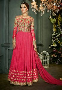 embroidered-abaya-style-net-suit-in-fuchsia