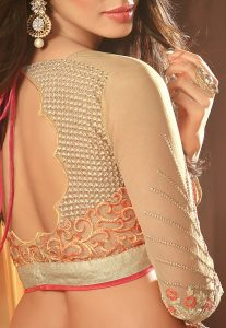 Embroidered Back Open Blouse