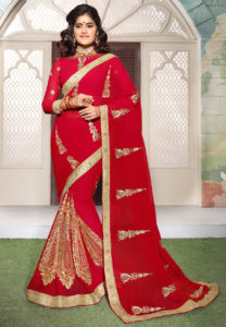embroidered-georgette-saree