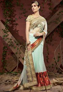 embroidered-net-saree