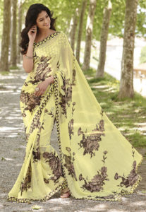 georgette-floral-printed-saree