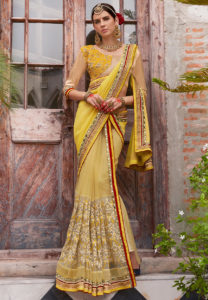 georgette-net-saree