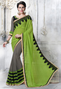 green-grey-saree