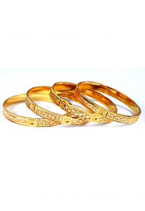 Metalic Bangle Set in Golden