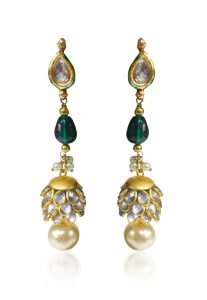 Pacchikari Long Dangle Jhumka Earring