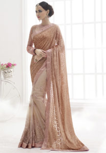 peach-half-half-saree
