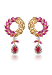 pink-gold-stone-studded-earrings