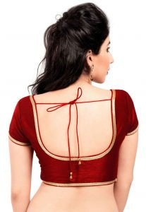 Red Back Open Blouse