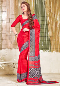 red-crepe-saree