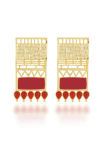 red-gold-plated-earrings