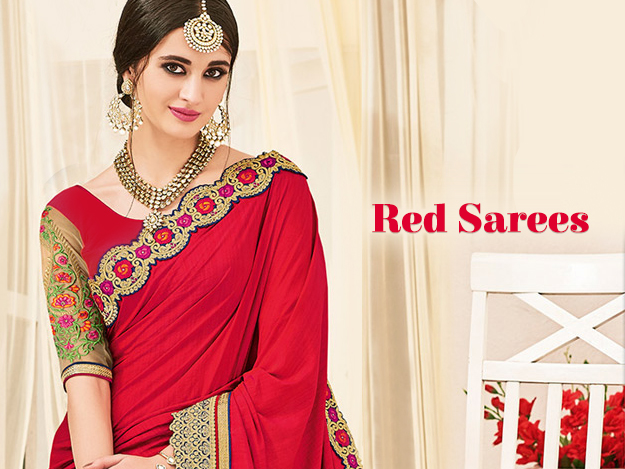 Let Your Wardrobe Pop Up With Ravishing Red Sarees