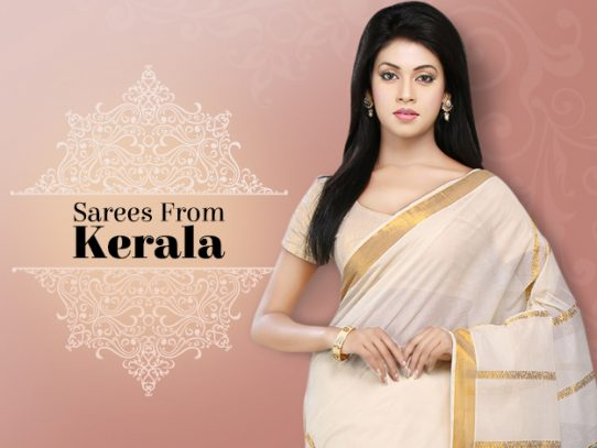 Look Ultra-Traditional in Kasavu or Kerela Sarees
